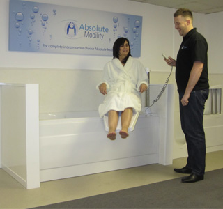 Power-Assisted Disability Baths | Bathtime Mobility