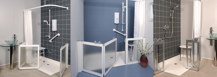 shower trays level access shower trays bathtime mobility cubicle disabled walk in showers walk in showers for disabled