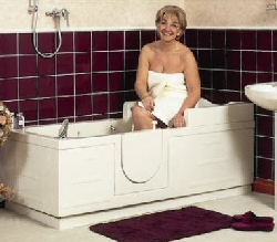 Luxor walk in bath accessible baths bathtime mobility for Luxor baths