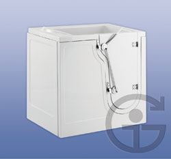 The Compact Side Entry – The Compact with side entry can fit anywhere in the bathroom