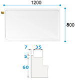 Dimensions for Nightingale Step in Shower Tray