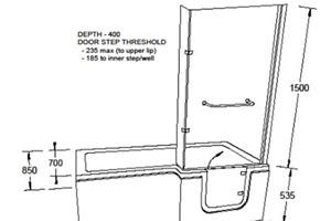 Dimensions for Savana Walk in bath