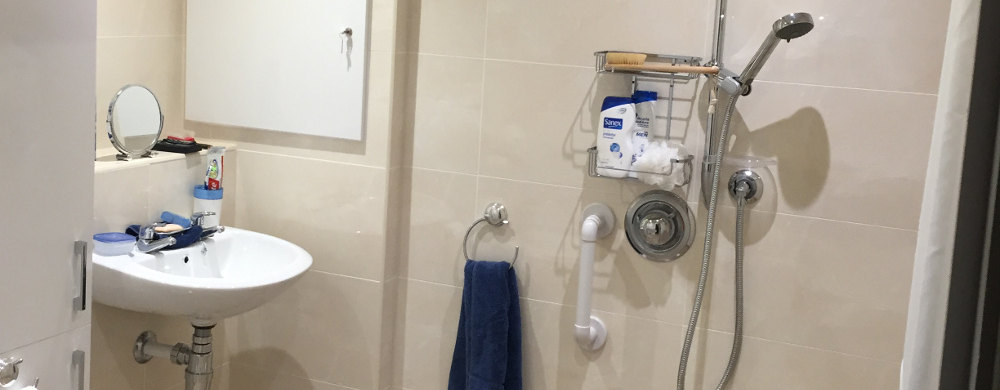 easy access wetroom in garage conversion